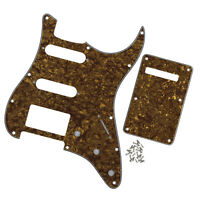 Set 4Ply Golden Pearl Guitar SSH Pickguard & Back Plate for FD Strat Guitar