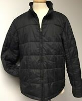 MEN'S LL BEAN MENS BLACK NYLON QUILTED & INSULATED JACKET COAT SIZE X LARGE REG