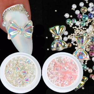 Nails Charms Alloy Crystal Nail Manicure Bow Nail Jewelry Mixed Nail Rhinestones