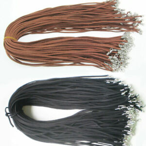 5/10pcs Black Brown Suede Leather String Necklace Cord Jewelry Making 47cm DIY