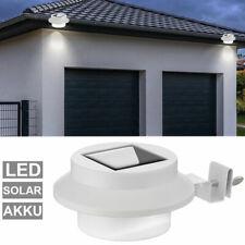 2x LED Solar Lampen Dachrinnen Beleuchtung Außen HausTür Garten Zaun Lecuchten