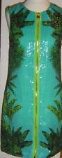 Versace for H&M Paillettenkleid Palmen-/Krokodilprint EUR 34 size US 4 UK 8