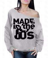 MADE in the 60's Off the shoulder oversized slouchy sweater sweatshirt