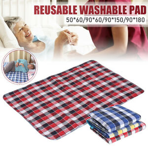 Washable Incontinence Bed Urine Pad Sheet Adult Mattress Mat Underpad Waterproof