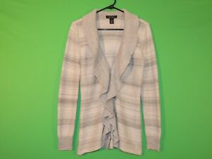White House Black Market Womens Size S Small Silver / Gray Cardigan / Sweater