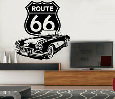VINILO DECORATIVO PARED SALÓN HABITACIÓN DECORACION -ROUTE 66- A MEDIDA STICKER