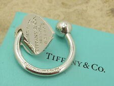TIFFANY & CO Designer Sterling Silver NEW Key Ring With Box & Pouch