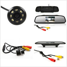 170°Wide-Angle IR Night Vision Car Reverse Camera Rearview Mirror Screen Monitor