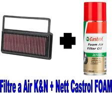 Filtre a Air Sport K&N KN 33-3014+Huile Castrol FIAT 500 (312) 1.4 Abarth 160ch