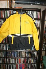 Jeg's High Performance Team Jegs Yellow Black Zip Front Jacket Mens M   (bin75)