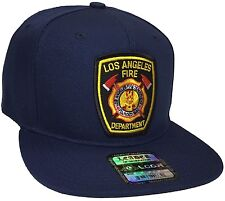 los angeles fire department Hat Color Navy Blue Snapback Adjustable New Hat