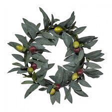 Olivenkranz mit Früchten Kunstpflanze 25 cm künstlich Türkranz Tischdeko
