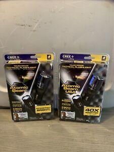 2 Atomic Beam USA 5000 LUX Tough Grade Tactical Flashlight As Seen on TV