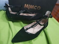 Mimco Black 38 EU /australian Size 7.5 Dress Code Ballet Sandals Flats