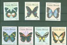 Guinea Bissau 1984 - Schmetterlinge Butterflies Papillons Lepidoptera Nr. 811-17