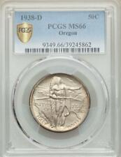 1938-D Oregon Trail Commemorative Silver Half Dollar - PCGS Mint State 66