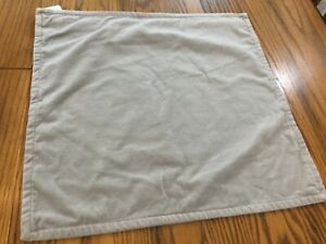 """NWT Pottery Barn Washed Velvet Pillow Cover Alloy Gray Grey 20"""" Modern NEW"""