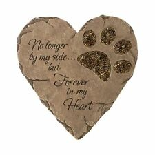 Pet Memorial Grave Marker Print Stepping Stone Heart Plaque Cat Dog Garden Decor