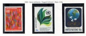 19164) UNITED NATIONS (New York) 1982 MNH** Definitives 3v