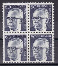 BRD 1971 postfrisch  4er Block  Gustav Heinemann  MiNr.  690