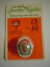 """RARE 1"""" MINIATURE DOLL 1967 MATTEL JEWELRY LIDDLE KIDDLE # 3744 FLOWER RING NOS"""