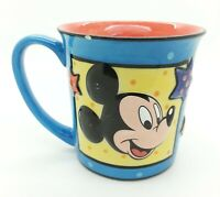 The Disney Store Holiday Mickey Mouse STAR Stoneware Coffee Cup Tea Mug Thailand