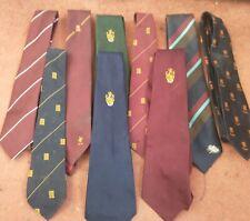 9x Vtg Essex Cricket & Club Ties