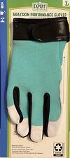 Women's Gardening Goatskin Leather Work Performance Gloves New Size: Large