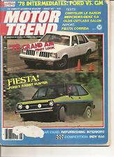 Motor Trend Aug 1977 - Pontiac Grand Am - Ford Fiesta - Fiesta Corrida