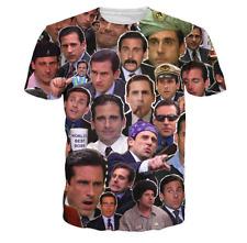 New Fashion Womens/Mens Michael Scott Paparazzi Funny 3D Print T-Shirt JK117