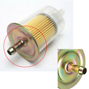 """8mm 3/8"""" Inline Gas Petrol Fuel Filter Pipe Autocycle Dirt Quad Bike Universal"""