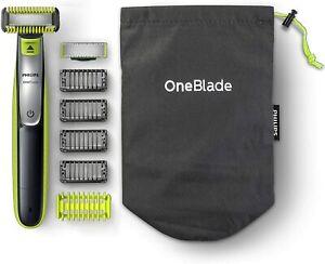 Philips OneBlade QP2630/30 Rasoio Elettrico Viso+Corpo Utilizzo Wet&Dry Custodia