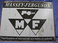 Massey- Ferguson Logo Tractor Vintage Tin Metal Sign Farn Farming NEW
