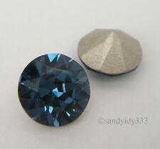 12x SWAROVSKI #1088 Montana ss39 XIRIUS CRYSTAL CHATON 39ss (Foiled) Stone Bead