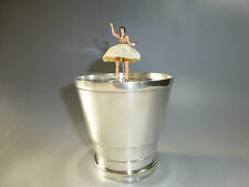 RARE VINTAGE REUGE DANCING BALLERINA MUSIC BOX Musical Cup  ( WATCH THE VIDEO )