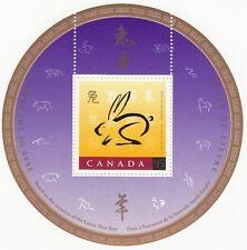 Canada - #1768i -  Year Of The Rabbit O/P Souvenir Sheet - MNH