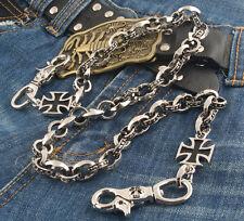Iron Cross Pendant Classic Biker Trucker Keychain Key Jean Wallet Chain CS111