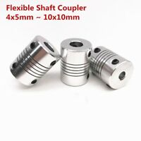 Aluminium Alloy Flexible Shaft Coupler 4-10mm To 5-10mm CNC Reprap 3D printer