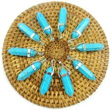 10PCS Wholesale Turquoise Hexagonal Point Pendant Gemstone Jewelry Necklace