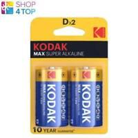 2 KODAK MAX ALKALINE SUPER D LR20 E95 BATTERIES BLISTER 1.5V MN1300 EXP 2029 NEW