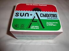 Sun Chlorella Supplement A 200 mg 1500 Tablets - Factory Sealed EXPIRATION 9/19