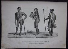 1845c Bewohner Karolinen lito H.R. Schinz Honegger inhabitants Caroline Islands