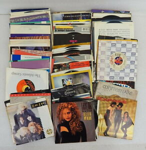 78pc Collection Vintage Lot 45 Vinyl Records 1980s Pop Rock Bananarama Heart