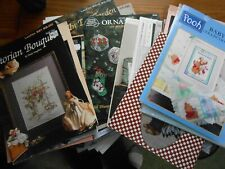 Lot of 55 Cross Stitch Patterns & Leaflets ALL PICTURED