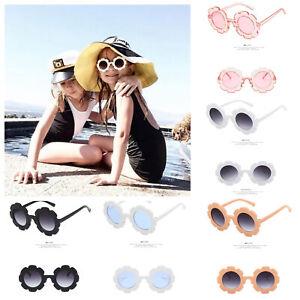 Kids Sunglasses Girls Child Sunflower Summer Round Sunglasses Retro Geek UV400