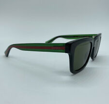 Gucci GG0001S 003 52 Men's Sunglasses - Black/green