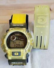 Vintage Casio G-Shock DW-9000 G-Lide 1627 Chronograph Watch Yellow 2xWatchbands