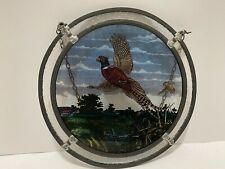Vintage Stained Glass Suncatcher pheasant By Glass Masters