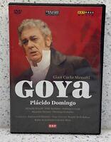 GIAN CARLO MENOTTI Goya (Theater an der Wien) (DVD, 2011) PLACIDO DOMINGO