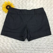 Ann Taylor Womens Signature Casual Shorts Size 4 Petite Stretch Blue dr3429